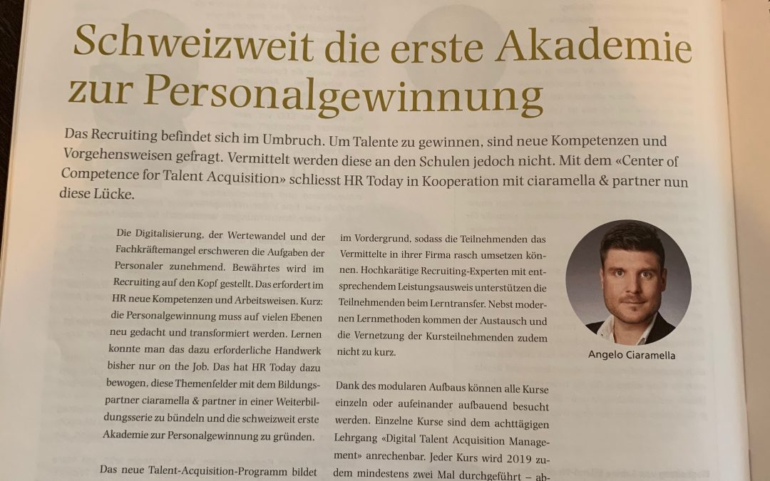 Schweizweit erste Akademie zur Personalgewinnung